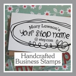 Handcrafted Business Card Stamps