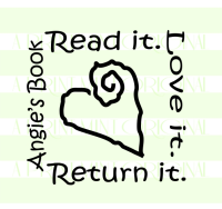 Custom Heart Book Stamp - This Book Belongs To Stamp