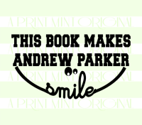Smile Book Stamp- This Book Belongs To Custom Stamp