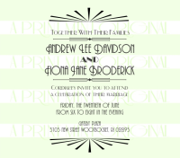 1920's Great Gatsby Wedding Invitation Stamp- Custom Rubber Stamps