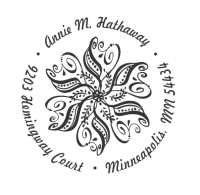 Custom Paisley Flower Address Stamp