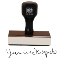 Rubber Stamp Signature Stamps