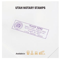 Utah Notary stamps, Journals, Jurat, Acknowledgement Stamps