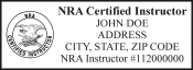 "National Rifle Association Instructor Stamp is high quality Trodat 4915 Self inking stamp.The seal  measures 15/16"" x 2-1/2"" self inking stamp"