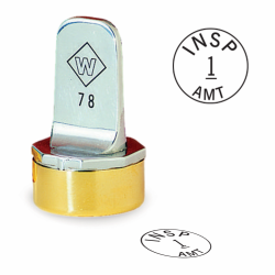 Design your own custom, neoprene inspection stamp. Order a round inspection stamp they are custom made in the USA and ship in 1-3 business days.