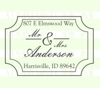 Mr and Mrs Wedding Return Address  custom return address rubber stamp great for stationary, weddings, invitations.