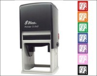 Round Monogram Address Stamp-  stamp custom return address self inking stamp great for stationary, weddings, invitations.