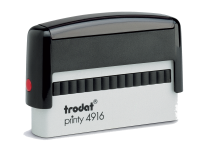 Trodat Self-Inking Stamp 3/8 in. x 2-3/4 in, 4916 Trodat Printy  Trodat Self-inking. They are climate neutral, intuitive and clean replacement of ink pads, incredibly small & light.