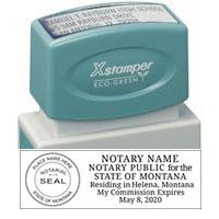 N14-23 - Montana Notary Stamp